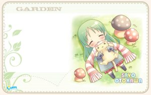 Rating: Safe Score: 9 Tags: chibi cuffs garden kanekiyo_miwa neko otokawa_sayo wallpaper User: fireattack