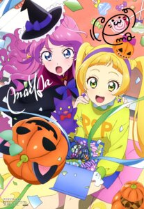 Rating: Questionable Score: 13 Tags: aikatsu_friends! akitsu_tatsuya autographed dress halloween witch User: drop