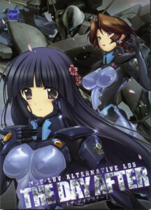 Rating: Questionable Score: 32 Tags: age_(studio) bodysuit erect_nipples gun isumi_michiru mecha muvluv muvluv_alternative sendou_yuzuka sword tagme User: Radioactive