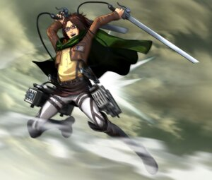Rating: Safe Score: 10 Tags: hanji_zoe megane shingeki_no_kyojin sword User: Radioactive