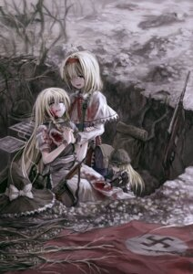 Rating: Safe Score: 24 Tags: alice_margatroid blood gun kirisame_marisa oto_taku touhou User: Mr_GT