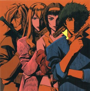 Rating: Safe Score: 9 Tags: cowboy_bebop faye_valentine gun julia spike_spiegel sword vicious User: Radioactive