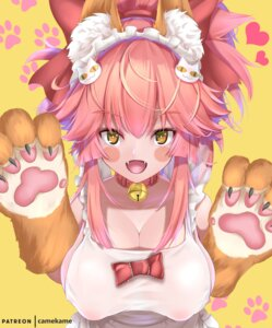 Rating: Questionable Score: 17 Tags: animal_ears areola erect_nipples fate/extra fate/grand_order fate/stay_night kamehito naked_apron see_through tail tamamo_cat User: Mr_GT