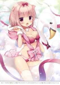 Rating: Questionable Score: 57 Tags: animal_ears bra canvas+garden cleavage miyasaka_nako pantsu thighhighs User: Twinsenzw