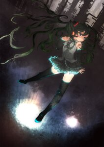 Rating: Safe Score: 20 Tags: hatsune_miku jpeg_artifacts psycho_mato thighhighs vocaloid User: Phiris