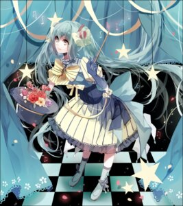 Rating: Safe Score: 30 Tags: cui_(jidanhaidaitang) dress hatsune_miku headphones vocaloid User: charunetra