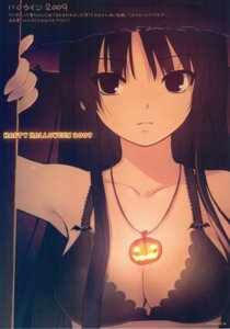 Rating: Questionable Score: 70 Tags: akiyama_mio bra cleavage coffee-kizoku halloween jpeg_artifacts k-on! royal_mountain scanning_artifacts screening witch User: fireattack