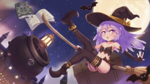 Rating: Questionable Score: 12 Tags: cleavage halloween heels loli pantsu skirt_lift stockings taku_michi thighhighs thong witch User: Mr_GT