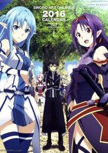 Rating: Safe Score: 49 Tags: armor asuna_(sword_art_online) dress kirito konno_yuuki leafa lisbeth pointy_ears silica sword sword_art_online thighhighs toya_kento User: Radioactive