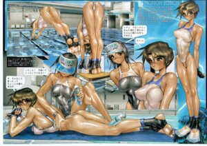 Rating: Questionable Score: 48 Tags: ass cream erect_nipples shirow_masamune swimsuits User: nanashioni