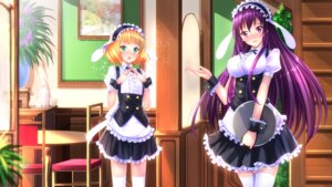Rating: Safe Score: 58 Tags: gochuumon_wa_usagi_desu_ka? kirima_sharo maid swordsouls tedeza_rize thighhighs wallpaper User: donicila