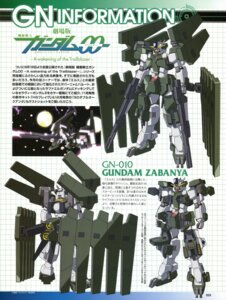 Rating: Safe Score: 12 Tags: character_design gun gundam gundam_00 gundam_00:_a_wakening_of_the_trailblazer gundam_zabanya mecha User: harimahario