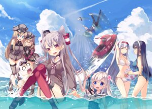 Rating: Safe Score: 92 Tags: amatsukaze_(kancolle) ass bikini bismarck_(kancolle) cleavage heels i-168_(kancolle) i-19_(kancolle) i-58_(kancolle) i-8_(kancolle) kantai_collection nopan ooyodo_(kancolle) pantsu pantyhose prinz_eugen_(kancolle) ro-500 school_swimsuit see_through seifuku shoukaku_(kancolle) stockings swimsuits tahya thighhighs wet yuubari_(kancolle) User: Mr_GT