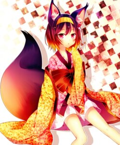 Rating: Safe Score: 61 Tags: animal_ears hatsuse_izuna kimono no_game_no_life ranhana tail User: 椎名深夏