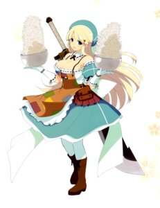 Rating: Safe Score: 28 Tags: cleavage dress senran_kagura sword yaegashi_nan yomi_(senran_kagura) User: fireattack