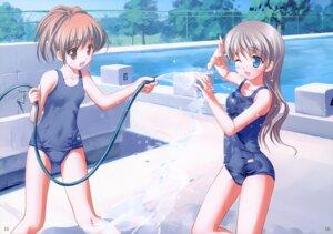 Rating: Questionable Score: 59 Tags: fixed kogemashita school_swimsuit swimsuits takoyaki wet User: fireattack