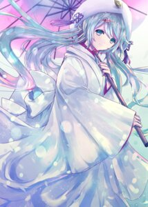 Rating: Safe Score: 35 Tags: alicetype hatsune_miku japanese_clothes umbrella vocaloid User: KazukiNanako