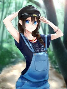 Rating: Safe Score: 24 Tags: aoyashio_rin kantai_collection overalls shigure_(kancolle) User: mash