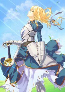 Rating: Safe Score: 13 Tags: armor dress excalibur fate/stay_night saber sword User: omegakung