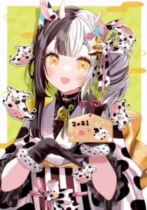 Rating: Safe Score: 22 Tags: animal_ears horns japanese_clothes misumi_(macaroni) User: Mr_GT
