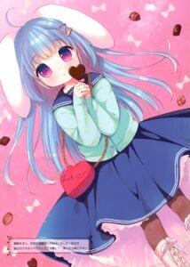 Rating: Safe Score: 19 Tags: animal_ears bunny_ears pantyhose seifuku sweater tagme usashiro_mani valentine User: kiyoe