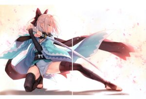 Rating: Safe Score: 49 Tags: alicesyndrome* fate/grand_order fixme gap japanese_clothes sakura_saber sword thighhighs toosaka_asagi User: kiyoe