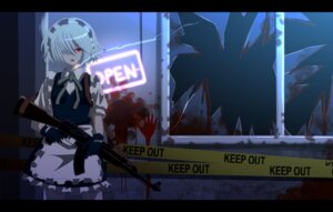 Rating: Safe Score: 14 Tags: blood gun izayoi_sakuya maid smoking tomon_(slash0410) touhou User: 04