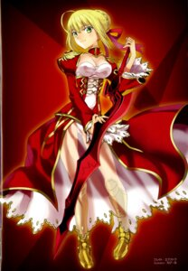 Rating: Safe Score: 31 Tags: binding_discoloration cleavage fate/extra fate/stay_night robina saber_extra see_through type-moon User: Wraith