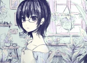 Rating: Safe Score: 16 Tags: megane monochrome tsubaki_ki User: blooregardo