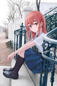 Rating: Safe Score: 24 Tags: kanojo_okarishimasu sakurasawa_sumi seifuku skirt_lift zeng$_(zwj) User: whitespace1