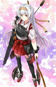 Rating: Safe Score: 16 Tags: armor heels japanese_clothes kanmiya_shinobu kantai_collection shoukaku_(kancolle) thighhighs weapon User: Genex