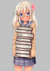 Rating: Safe Score: 50 Tags: go-1 kantai_collection megane ro-500 seifuku sweater User: Mr_GT
