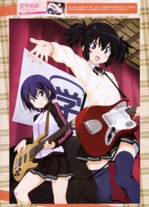 Rating: Safe Score: 22 Tags: bandaid guitar gym_uniform kuuchuu_yousai seifuku thighhighs User: drop