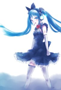 Rating: Safe Score: 12 Tags: dress hatsune_miku headphones kowiru tattoo thighhighs vocaloid User: charunetra