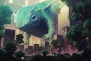Rating: Safe Score: 32 Tags: kakoto_mirai landscape monster User: blooregardo