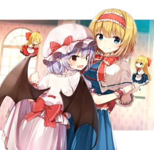 Rating: Safe Score: 30 Tags: alice_margatroid chibi hourai remilia_scarlet shanghai shinoba skirt_lift touhou wings User: Mr_GT