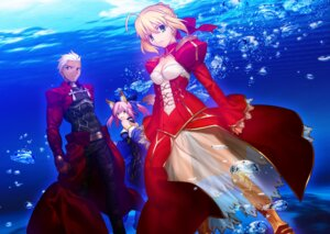 Rating: Safe Score: 36 Tags: archer caster_(fate/extra) fate/extra fate/stay_night kitsune saber_extra takeuchi_takashi type-moon User: demonbane1349