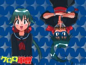 Rating: Safe Score: 3 Tags: azumaya_koyuki fishnets keroro_gunsou megane ninja seifuku wallpaper yoshizaki_mine User: koyukidono
