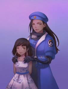 Rating: Safe Score: 16 Tags: ana_(overwatch) dress overwatch pharah qian_yi tattoo uniform User: charunetra