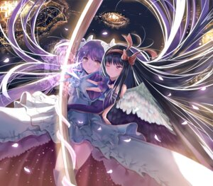 Rating: Safe Score: 32 Tags: akemi_homura dress nick_(nikek96) puella_magi_madoka_magica thighhighs ultimate_madoka weapon wings User: Mr_GT
