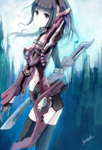 Rating: Safe Score: 39 Tags: mecha_musume minato_(shouno) sword thighhighs User: Radioactive