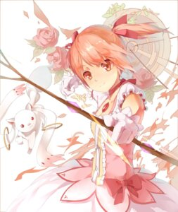 Rating: Safe Score: 37 Tags: dress huanxiang_heitu kaname_madoka kyubey puella_magi_madoka_magica weapon User: Zenex