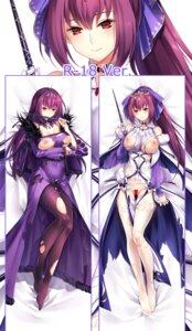Rating: Questionable Score: 28 Tags: breast_hold breasts censored dakimakura dress fate/grand_order nipples no_bra nopan pantyhose scathach_skadi tagme thighhighs torn_clothes weapon User: BattlequeenYume
