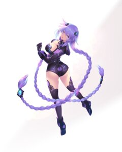 Rating: Safe Score: 37 Tags: ass bodysuit cait choujigen_game_neptune leotard purple_heart thighhighs User: Nepcoheart