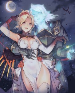 Rating: Safe Score: 41 Tags: 0910popo armor cleavage dress halloween mercy_(overwatch) no_bra overwatch pharah thighhighs torn_clothes User: Mr_GT