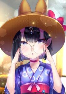 Rating: Safe Score: 17 Tags: fate/grand_order horns kimono megane pointy_ears shuten_douji_(fate/grand_order) teltelhousi User: charunetra