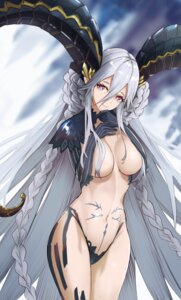 Rating: Questionable Score: 34 Tags: breast_hold breasts fate/grand_order horns kuguiema no_bra pantsu pointy_ears tiamat_(fate/grand_order) User: BattlequeenYume