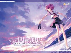 Rating: Safe Score: 12 Tags: etude hinata_yuuhi seifuku soshite_ashita_no_sekai_yori ueda_ryou wallpaper User: tsubasawow