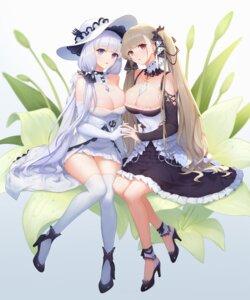 Rating: Questionable Score: 76 Tags: azur_lane formidable_(azur_lane) gothic_lolita heels illustrious_(azur_lane) lolita_fashion no_bra oo92248226 see_through symmetrical_docking thighhighs User: charunetra