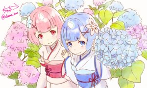 Rating: Safe Score: 36 Tags: chama_kou horns japanese_clothes ram_(re_zero) re_zero_kara_hajimeru_isekai_seikatsu rem_(re_zero) signed User: charunetra